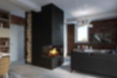Недорогая реалистичная визуализация, рендер интерьера студии, современная кухня-гостиная
