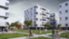 Жилой комплекс в Кракове, визуализация жилых зданий, коммерческая визуализация зданий