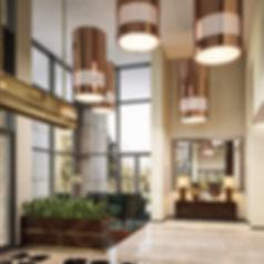 3d коммерческая визуализация, интерьер вестибюля, вестибюль жилого комплекса