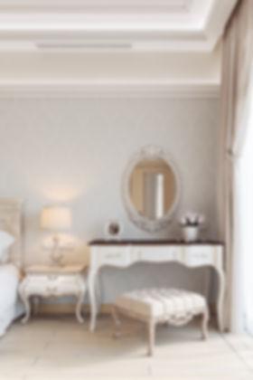 Изящная спальня в стиле прованс, визуализация спальни в стиле прованс, реалистичная визуализация спальни