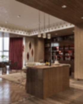 Кухонная барная стояка в современном интерьере