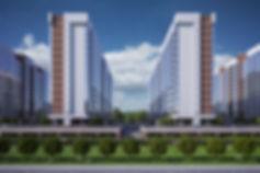 3Д здания, перспектива, секции