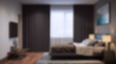уютная спальня, реалистичная визуализация, изображение проекта спальни
