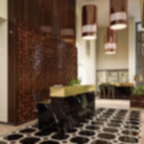 3d коммерческий виз, визуализация рецепции, визуализация интерьеров жилого комплекса