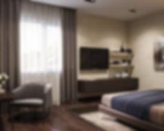 Уютная спальня, качественная визуализация дизайн-проекта, отличный рендер, недорогая визуализая, проект спальни