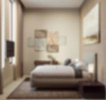 комната для гостей, минимализм в спальне