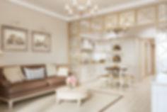 Кухня-гостиная в Ялте, квартира в стиле прованс в Ялте, красивый прованс в квартире