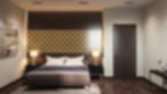 3d визуализация интерьера спальни, современный интерьер, уютная спальня