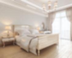 3d визуализация спальни, спальня в провансе, проект изящной спальни