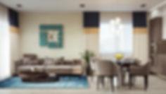 Недорогой реалистичный рендер, художественная визуалиция интерьера, уютная кухня-гостиная