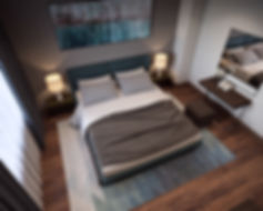 изображение вид сверху, планировка спальни, расстановка мебели в спальне