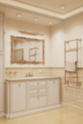 Санузел в провансе, визуализация санузла,ванная в стиле прованс