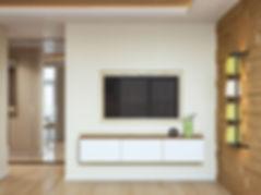 3d изображение, коридор и гостиная, дизайн квартиры