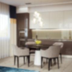 3d визуализация кухни, объемное изображение кухни, перспективное изображение кухни