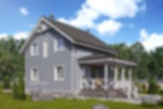 жилой дом 3d визуализация