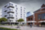 Красивая визуализация зданий, жилой комплекс виз, 3d визуализация комплексной застройки