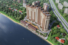 3D моделирование, жилой комплекс, создание окружения