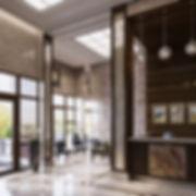 класссический 3D интерьер, визуализация вестибюля, коммерческая визуализация