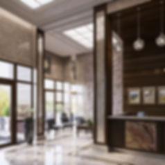 Визуализация вестибюля, жилой комплекс интерьер, входная зона