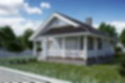 заказать 3D, визуализация дома по модели autocad
