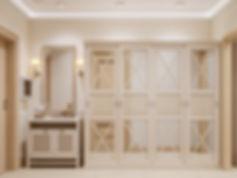 Визуализация холла, холл в стиле прованс, визуализация коридора в квартире