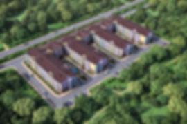 Визуализация 3D по модели AutoAD, застройка территории