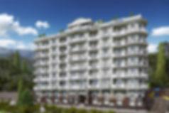3D рендер общественного здания