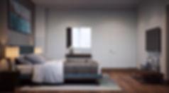 современная спальня, виз интерьера, спальня визуализация проекта
