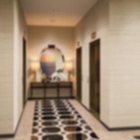 Визуализация интерьера лифтового холла, коммерческая визуализация лифтового холла, лифтовый холл ЖК