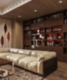 Стеллаж с книгами, декор в гостиной, Poliform