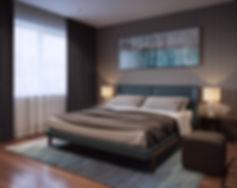 Визуализация спальни, изображение спальние, 3d интерьер, жилая комната