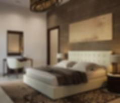 визуализация спальни, 3д интерьер