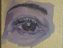 Dein Auge in Öl 15/15 cm Preis: 100 Euro