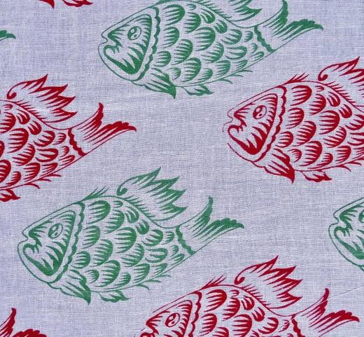 Green and red large fish £15 / 3m