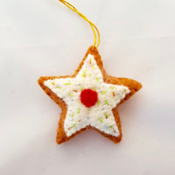 Gingerbread star hanging   £4.00
