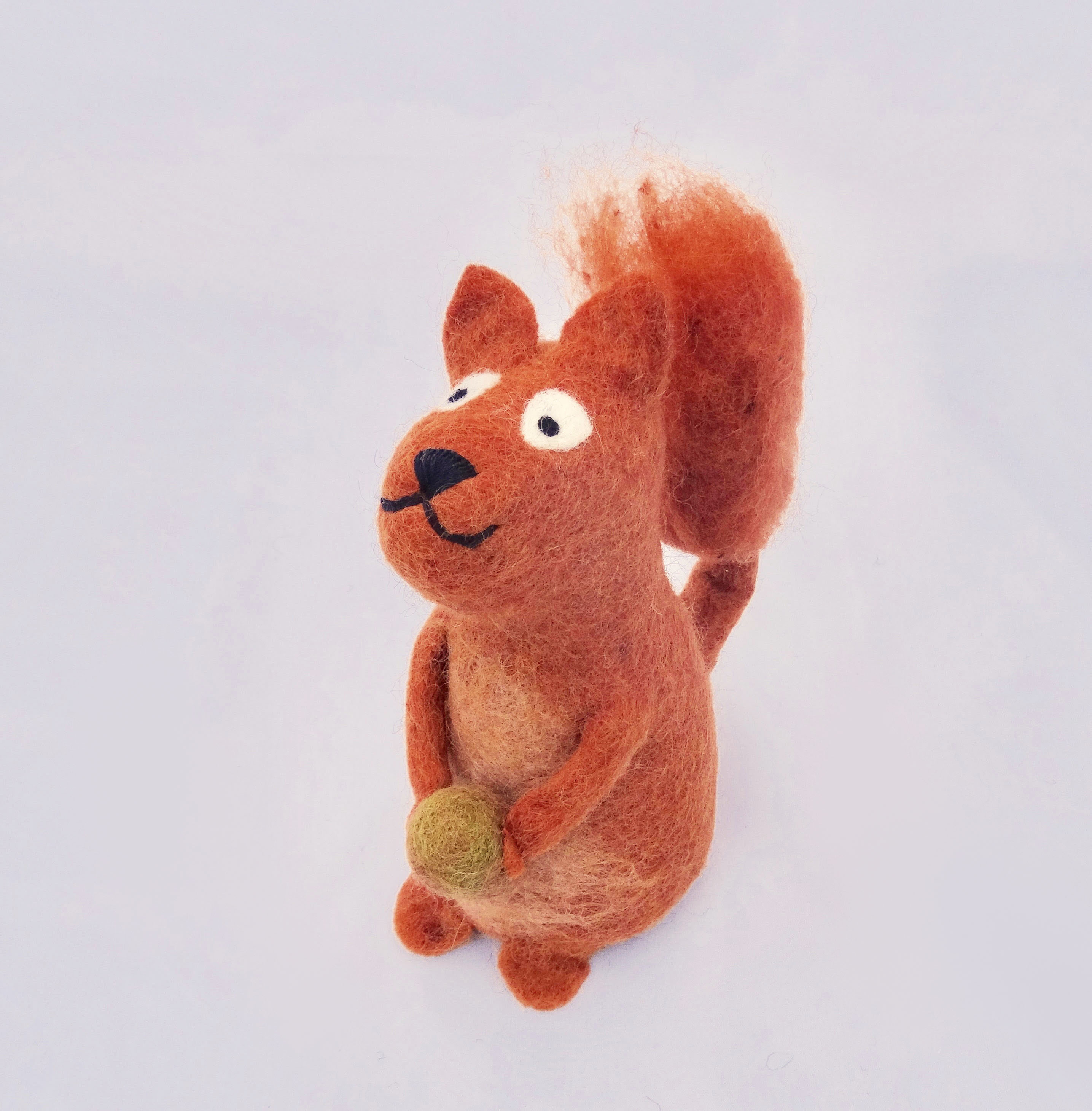 Red squirrel tree topper.