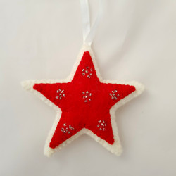 Large star tree hanging   £4.50