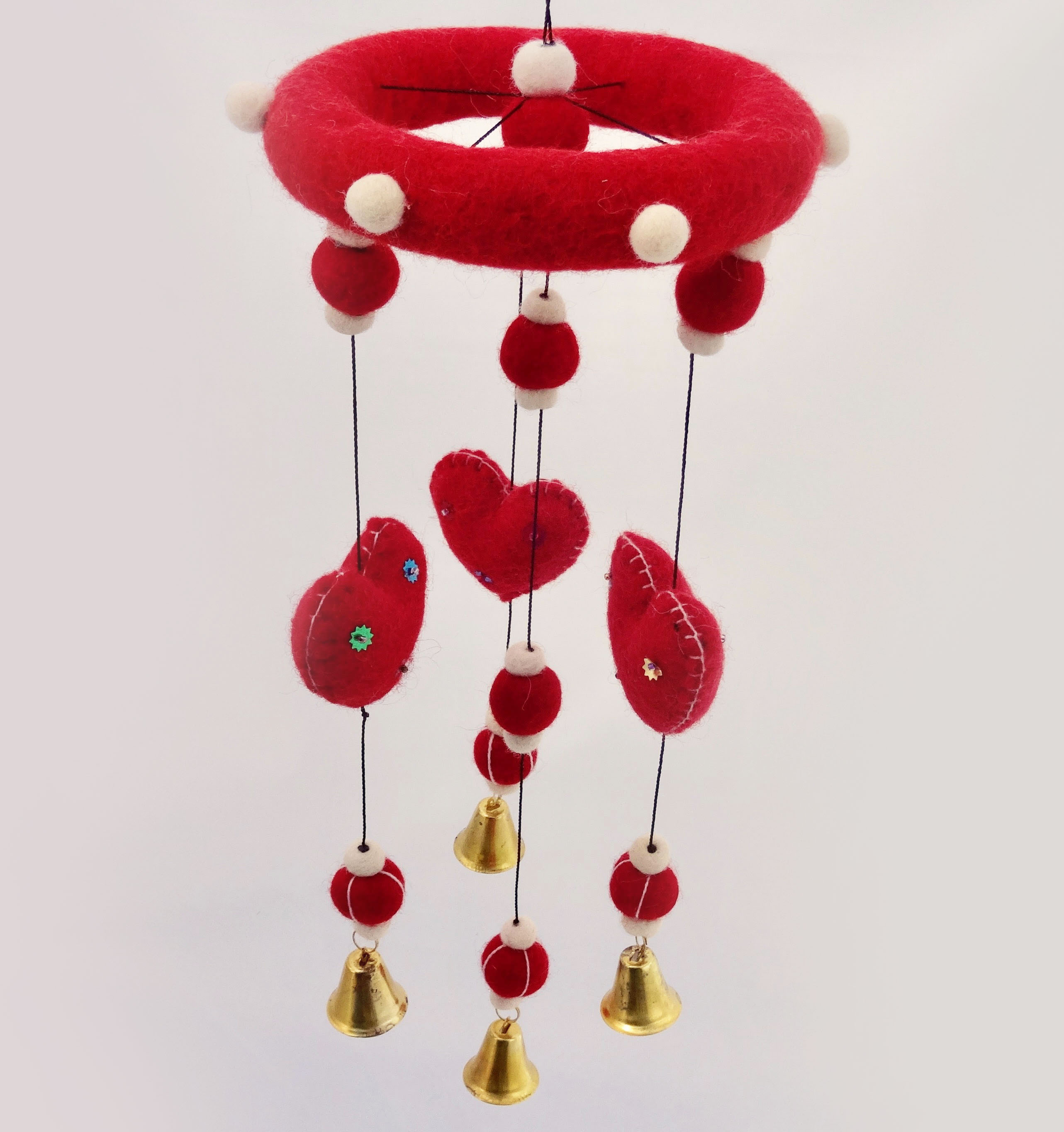 Red heart mobile.