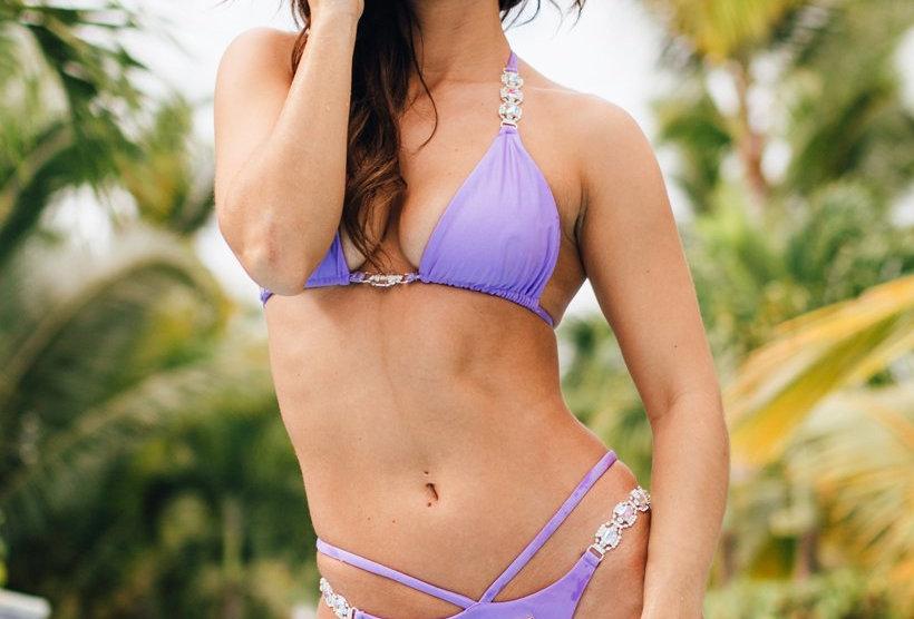 Shanel Triangle Top & Strappy Tango Bottom - Purple