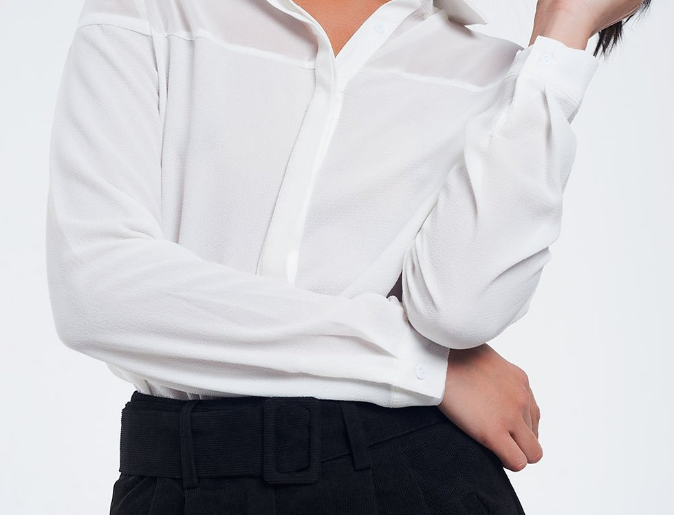 Semi-Transparent Cream Shirt