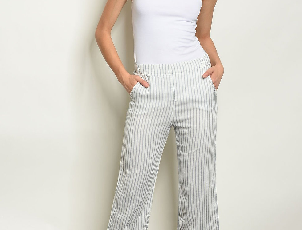 White Stripes Pants