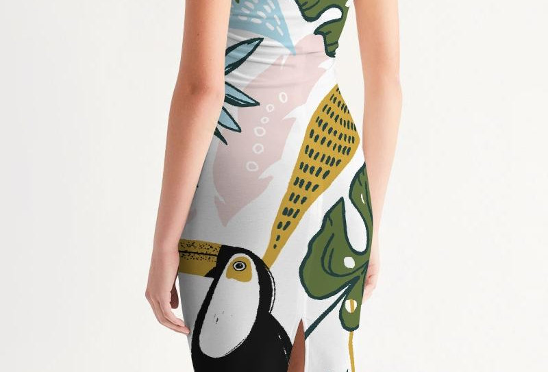 Beautiful Girl Women's Midi Bodycon Dress