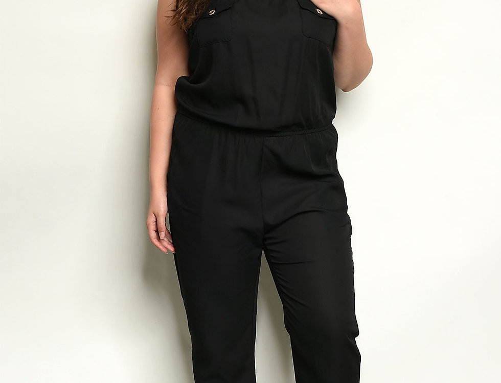 Black Plus Size Jumpsuit