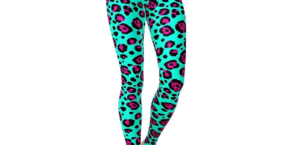 Leggings Pink and Blue Cheetah