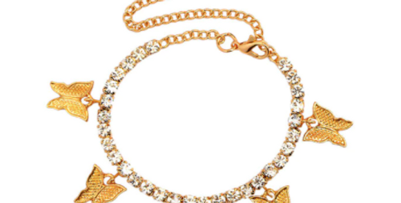 Kaura Butterfly Anklet - Gold