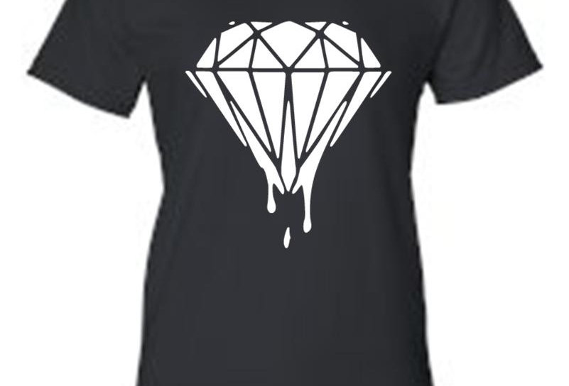 "Juniors Live the Diamond Life; ""Diamond"" Print T-Shirt"