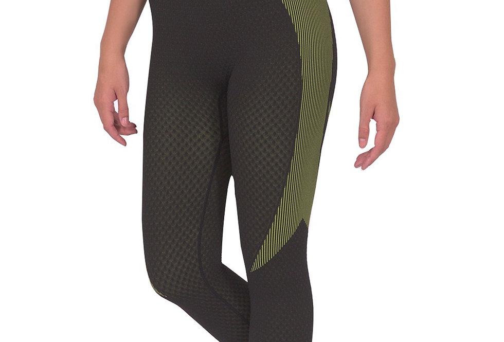 Trois Seamless Legging - Black With Green