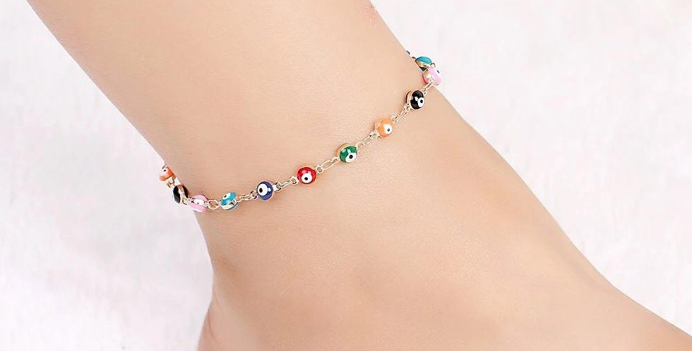 Tropical Lucky Eye Anklet
