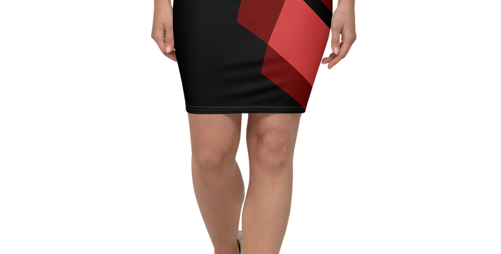 Red Fox Pencil Skirt