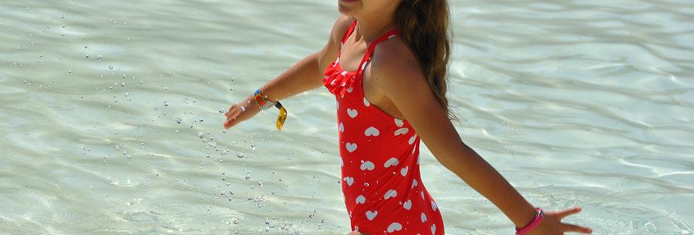 One Piece Girl's Ruffle Swimsuit